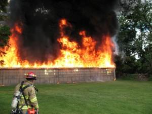 Intervention incendie